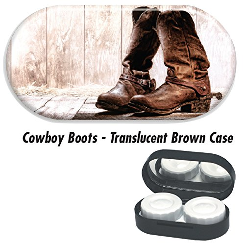 Boots Lens Contact (Contact Lens Cases - Cowboy Boots: Brown)