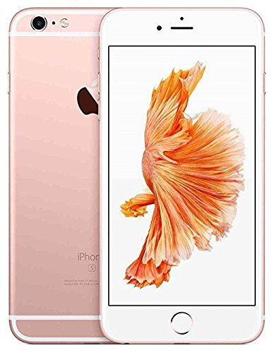 Apple iPhone 6S, GSM Unlocked, 16GB - Rose Gold (Renewed)