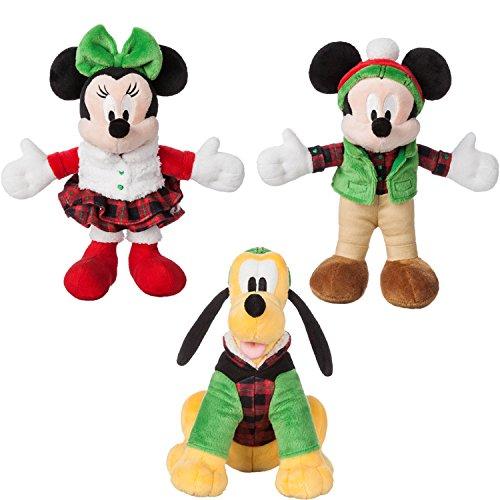 Disney Mickey Mouse,Minnie and Pluto Holiday Plush - Mini Bean Bag 9