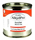 C.A.S. Paints AlkydPro Fast-Drying Oil Color Paint Can, 8-Ounce, Pyrrole Red