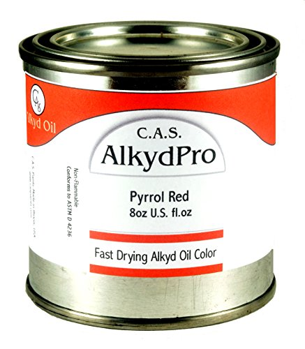 C.A.S. Paints AlkydPro Fast-Drying Oil Color Paint Can, 8-Ounce, Pyrrole Red by C.A.S. Paints