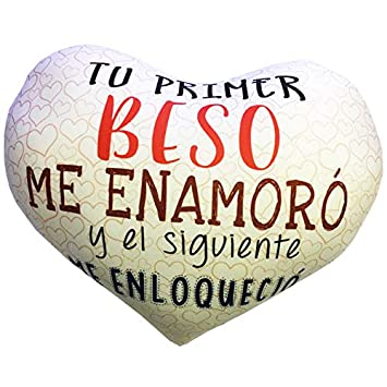 LInformal Cojín corazón pequeño Tu Primer Beso me enamoró ...