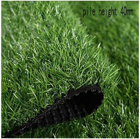 XEWNEG 高密度ガーデン人工芝、暗号化されたソフトで快適なカーペットマット、お手入れが簡単でアンチエイジング、滑り止めの芝生、杭の高さ40 mm (Size : 2x3M)