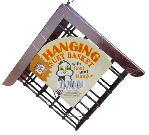 CandS Hanging Suet Basket w/ roof, My Pet Supplies