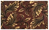 Imports Decor Natural Jute Rug with Latex Backing, Leaf Design, 24-Inch by 36-Inch