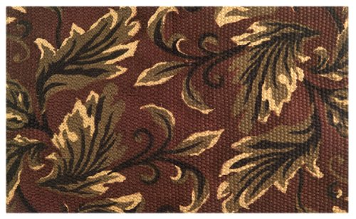 Imports Decor Natural Jute Rug with Latex Backing, Leaf Design, 24-Inch by 36-Inch by Imports Décor