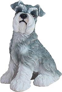 "Danmu 1Pc of Polyresin Schnauzer Dog Statue Garden Statues, Outdoor Statues, Garden Ornaments, Yard Statue for Home and Garden Decor (5 9/10"" x 5 1/2"" x 7 2/5"")"