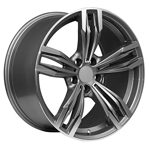 19x8.5 Machined Face GunMetal Rims Fits 1 3 4 BMW -