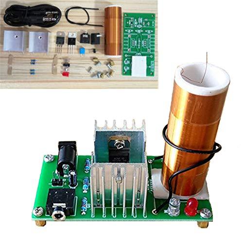 DIY Mini Tesla Coil Kit 15W Mini Music Tesla Coil Plasma Speaker Tesla Wireless Transmission DC 15-24V Dingdong Store (Tesla A) ()
