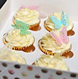 24 Beautiful 3D Mixed Colour Edible Wafer Paper Butterfly Cake Toppers Decorations - 6 of each...
