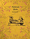 Medicinal Herbs Notebook: A Collection and Notes Book, Blank Book, Notebook for Herbalist, Herbal Medicine, Herbology, Herb Book, Half Blank Half ... Pages 25 Sheets, 8.5x11 in. Journal Notebook