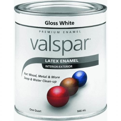 Valspar 65000 Premium Interior/Exterior Latex Enamel, 1-Quart, White Gloss