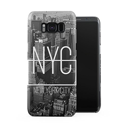 NYC New York City Brooklyn Downtown Travel Trip Plastic Phone Snap On Back Case Cover Shell For Samsung Galaxy S8 - Nyc Brooklyn Downtown