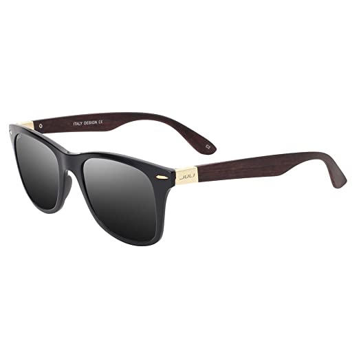 9ea92abeb9 Image Unavailable. Image not available for. Color  MAXJULI Mens Womens  Fashion Wood Bamboo Printed Wrap 52MM Sunglasses 4195WN