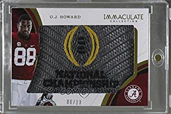 O.J. Howard #6/13 (Football Card) 2017 Panini Immaculate Collection Collegiate - RPS Rookie Player Caps #4