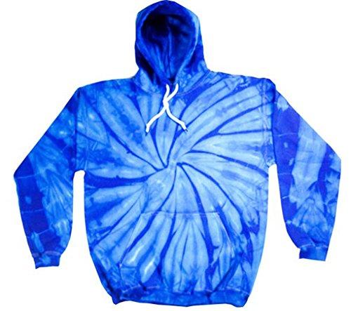 Buy Cool Shirts Mens Tie Dye Pullover Spider Royal Hoodie MED