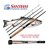 "Santiam Fishing Rods Travel Rod 4 Piece 7'6"" 8-17lb MF Graphite Spinning Rod For Sale"