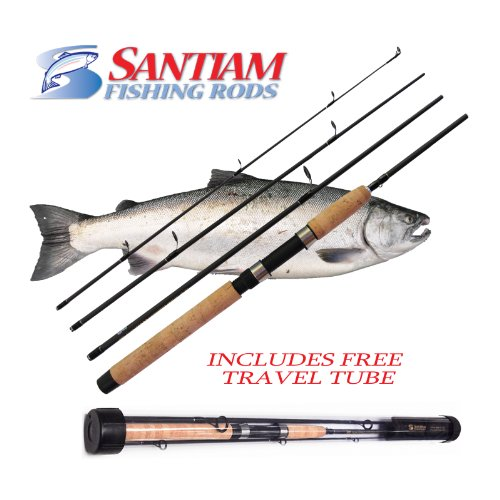 Santiam Fishing Rods Travel Rod 4 Piece 7'6'' 8-17lb MF Graphite Spinning Rod