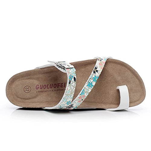 Slippers HAIZHEN Women shoes Summer Fashion Cork Sandals Female Flat Casual Beach Shoes With 5 Colors for Women (Color : #2, Size : EU41/UK7.5-8/CN42) #3
