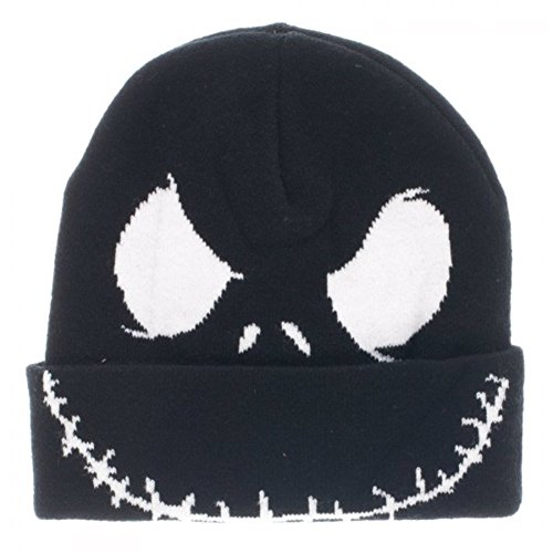 Jack Skellington Top Hat (The Nightmare Before Christmas Big Face Jack Skellington Cuff Beanie)