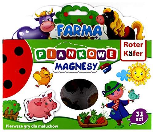Roter Kafer Magnets for Kids - Toddler Magnets - Refrigerator Magnets for Boys and Girls - Fridge Magnets for Kids - Set of 31 Animal Magnets