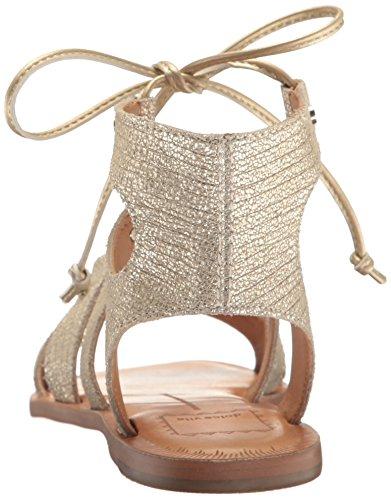 Dolce Vita mujer gladiador sandalias de ante Jasmyn Gold Lizard Embossed Leather
