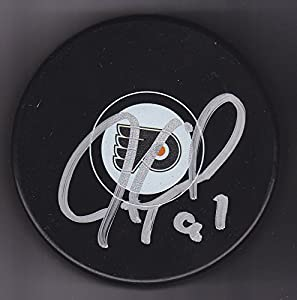 Jeremy Roenick Autographed Puck Philadelphia Flyers