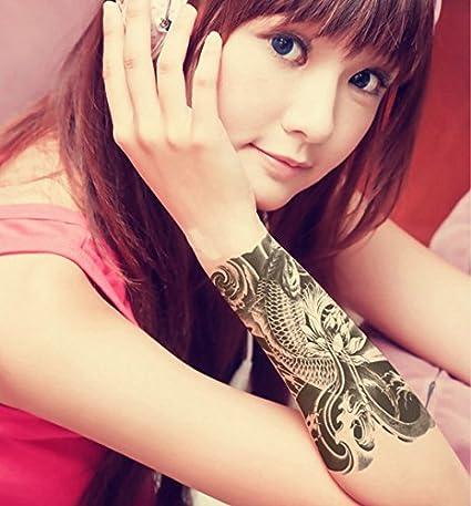 Generic Flor brazo impermeable flor brazo, diseño de carpas Koi y ...