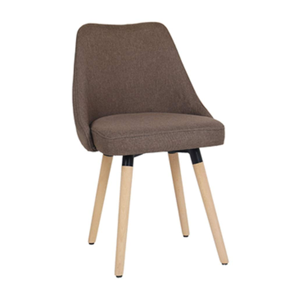 Brown 434385cm Dining Chairs Chair Dining Chair Makeup Chair Coffee Chair Home Office Chair Study Chair Negotiate The Chair Chair Fabric Lounge Chair Solid Wood Chair Dining Chairs