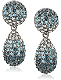 Womens Medium Teadrop Pave Swarovski Stones Earrings