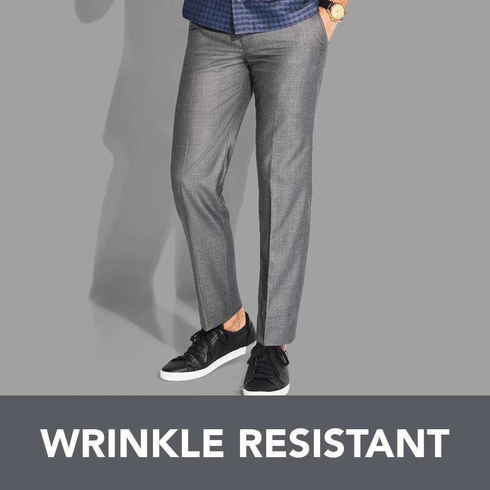 Van Heusen Men's Slim Fit Flex Flat Front Pant at  Men's Clothing store