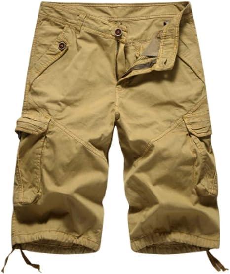Pantalones Cortos Diseño Fresco Verano Cortos Hombre Carga Sólida ...