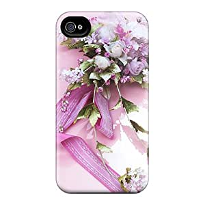 New Arrival Case Cover With EgD8080Ntko Design For Iphone 4/4s- Beautiful Bouquet