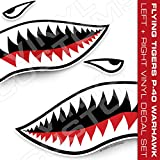 Vinyl Customs Flying Tigers Decals Shark Teeth Stickers - (50' inches / 1 Pair)