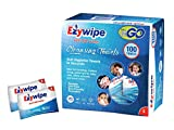 Ezywipe Compressed Cleansing Towels 100 pack (s) 100% Rayon Certified Bio-degradable Hypo-allergenic Anti-microbial Anti-bacterial for Travel Camping Home Family Personal Baby Seniors Pet Care