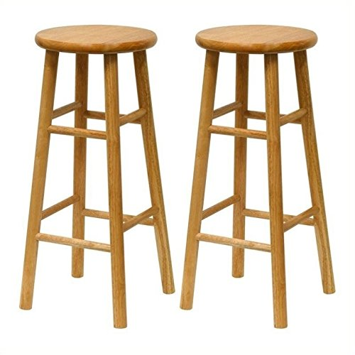 Winsome All 30 in. Beveled Seat Bar Stools - Set of 2