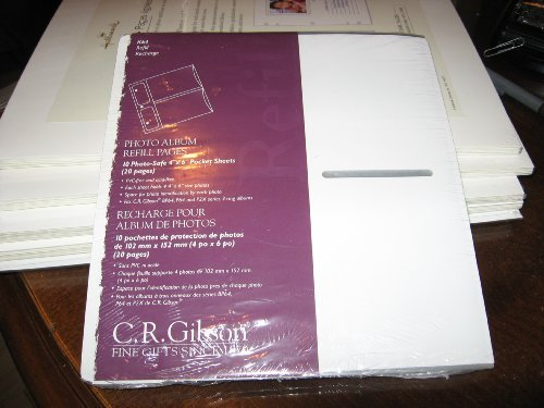 C.R. Gibson K64 Pocket Sheets-Fits P64, BP64, BP2X and P2X Albums by Made in the USA