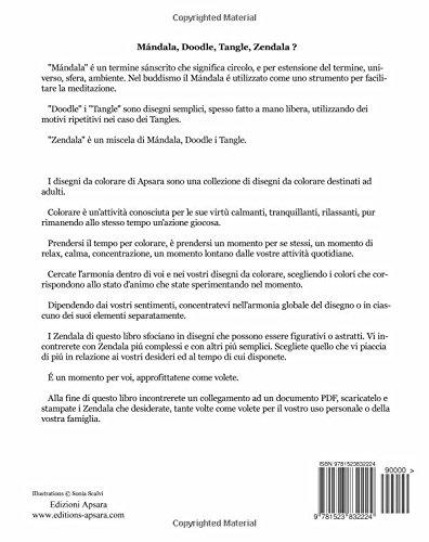 Amazon It Disegni Da Colorare Di Apsara 50 Zendalas Mándalas