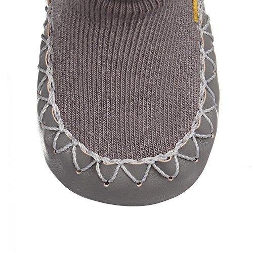 "MOCCIS - Zapatos primeros pasos de algodón para niño gris gris M (Length:40.5""/103cm)"