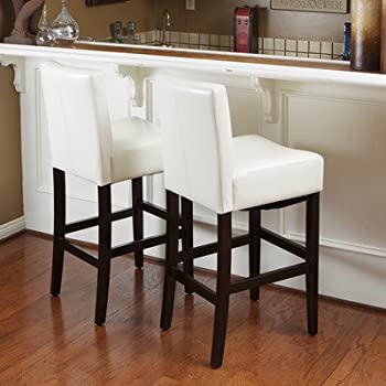 Best Selling Lopez Leather Counter Stool Ivory Set of 2 & Amazon.com: Best Selling Lopez Leather Counter Stool Ivory Set ... islam-shia.org