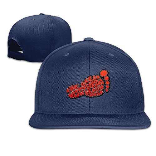 HYRONE For Men Women Hip Hop Baseball-Caps Mesh Back Great Florida Hat Caps Navy -