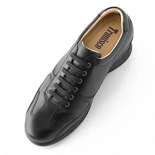 Modèle Pour la avec Carrara Masaltos Jusqu'À 7cm Noir Réhaussantes Chaussures Peau Fabriquées Semelle Taille Augmentant Homme en 060USHnq