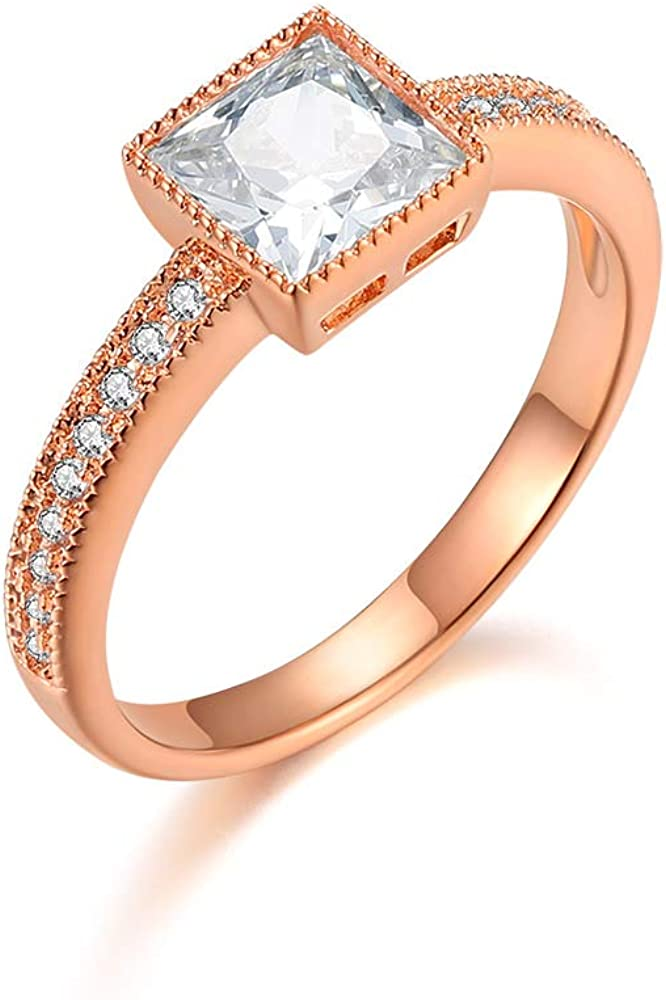 Italina Women S Rings Eternity Love Engagement Ring Party Wedding Birthday Gifts For Her Rose Gold Plating Size 5 Amazon Co Uk Jewellery