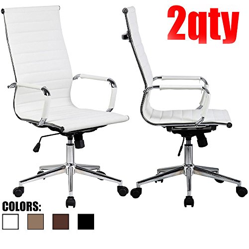 2xhome-set-of-two-2-white-modern-high-back-tall-ribbed-pu-leather-with-wheels-arms-arm-rest-w-tilt-a