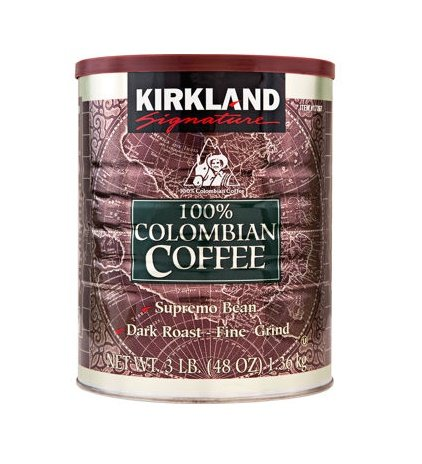 Kirkland Signature™ 100% Colombian Supremo Ground Coffee 3 Lb. Can 2-pack