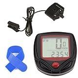 Dcolor 15 Function Speedometer Odometer Velometer Waterproof LCD Digital Bike Bicycle