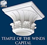 Temple of the Winds Capital for Hollow Column - XL Size - Composite Resin - Unfinished - Paint Ready - Load Bearing - Dimensions In Images/Details