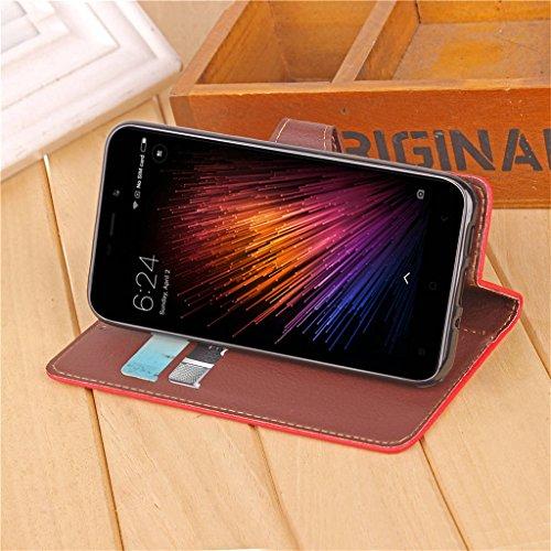 Erdong® funda Para Xiaomi Redmi 4X 5.0, Flip Book-style Superior PU de la carpeta de cuero de diseño [magnético cierre hoja style] Con la función del soporte y ranuras titular de la tarjeta para Xiao Rojo