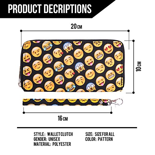 TC Women Emoji Wallet Purse Soft Polyester Clutch for Girls by TC (Image #1)