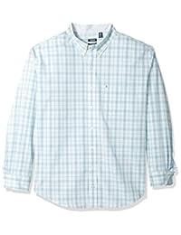 Izod mens big-tall Big and Tall Essential Tattersall Long Sleeve Shirt